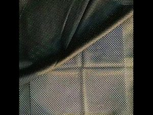 160gsm poliester meledingkan merajut kain mesh bersih untuk jaket tentera