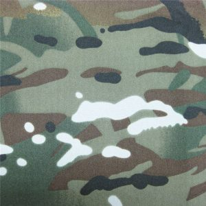 teflon 100% poliester ditenun kalis air luar tentera penyamaran kain jaket hujan