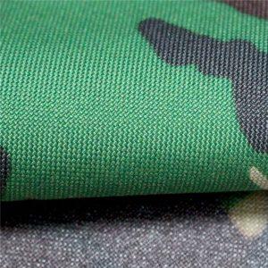 kain oxford: poliester 600d, 300 gsm, cetakan kamuflase biasa