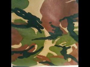 penyamaran dicetak ripstop kalis air nilon kain seragam tentera oxford