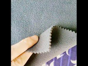 china borong 100% poliester kering sesuai kain bulu untuk kegunaan dalaman